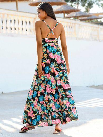 Alba Moda Strandkleid mit besticktem Zierband