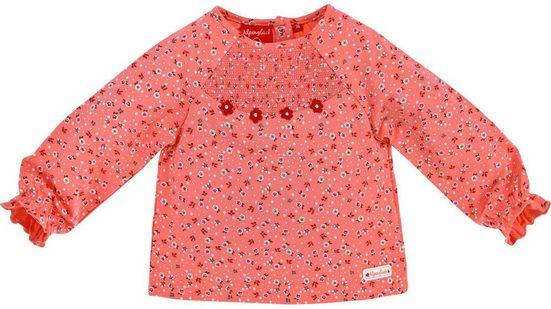 "BONDI Langarmshirt »Mädchen Langarm Shirt ""Alpenglück"" mit Streublümchen 86354 - Melba Rosa - Baby Kinder Bekleidung«"