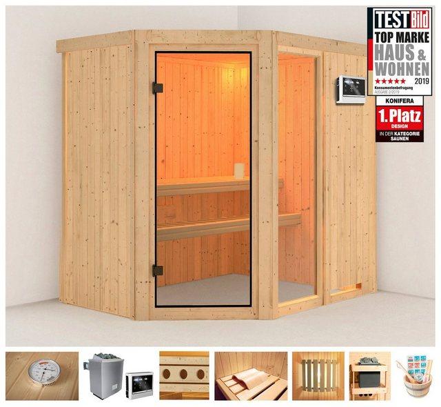 Saunen und Zubehör - KONIFERA Sauna »Jette 1«, 196x151x198 cm, 9 kW Ofen mit ext. Steuerung  - Onlineshop OTTO