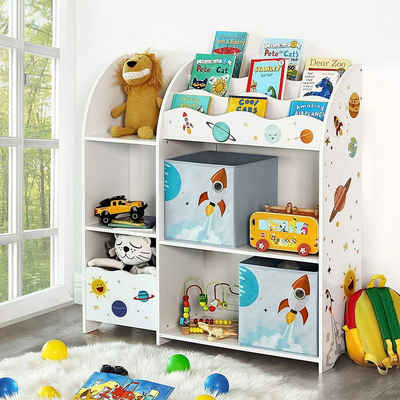 SONGMICS Bücherregal »GKR42WT«, Kinderregal, Spielzeug-Organizer, weiß