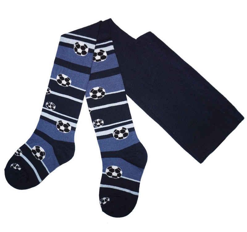 WERI SPEZIALS Strumpfhersteller GmbH Strickstrumpfhose »Kinderstrumpfhosen für Jungs >>Fußball<< mit Baumwolle«