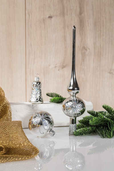 HGD Holz-Glas-Design Weihnachtsbaumkugel »Glaskugelsortiment Dekor 39teilig«, Ø ca. 5, 6 und 7 cm
