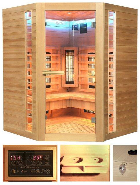 Saunen und Zubehör - HOME DELUXE Infrarotkabine »Redsun XXL Deluxe«, 150x150x190 cm  - Onlineshop OTTO