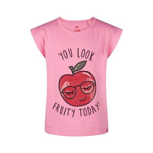 WE Fashion T-Shirt LEONIE mit Pailletten für Mädchen