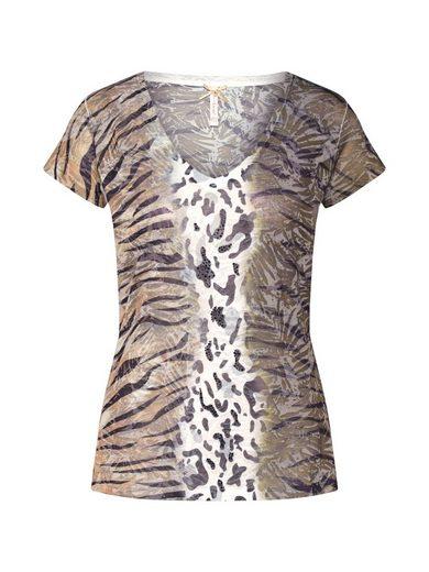 Key Largo V-Shirt »MADAGASCAR« Ziersteine