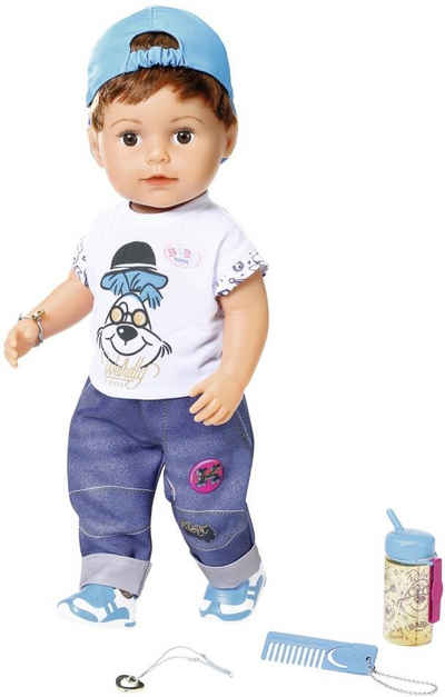Baby Born Stehpuppe »Soft Touch Brother, 43 cm«, interaktiv