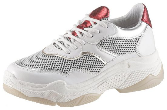 s.Oliver Plateausneaker mit Metallicdetails