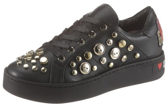LOVE MOSCHINO »Full of love« Plateausneaker mit goldfarbenen Details