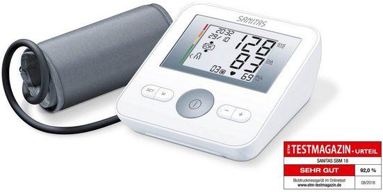 Sanitas Oberarm-Blutdruckmessgerät BM 18, Vollautomatische Blutdruck- und Pulsmessung am Oberarm