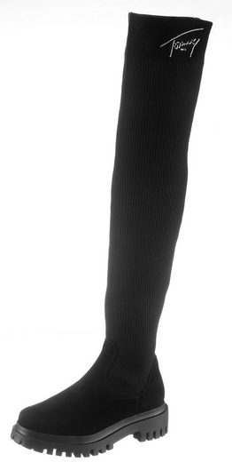 TOMMY JEANS »Karlie 6C« Overkneestiefel mit dehnbarem XS-Schaft