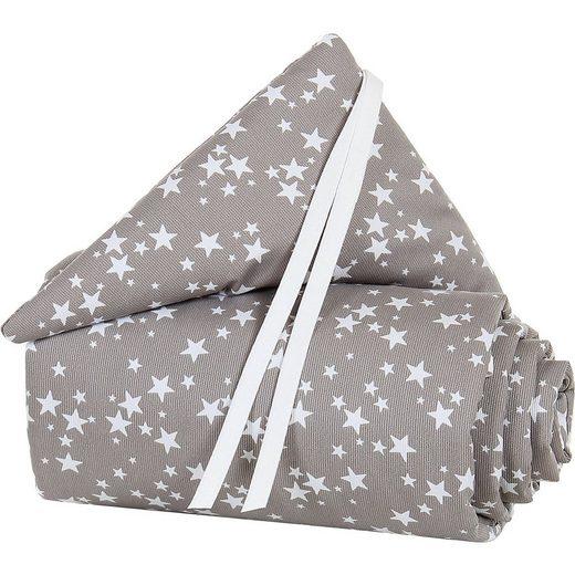 Tobi Nestchen Piqué für babybay Boxspring XXL, taupe Sterne weiß