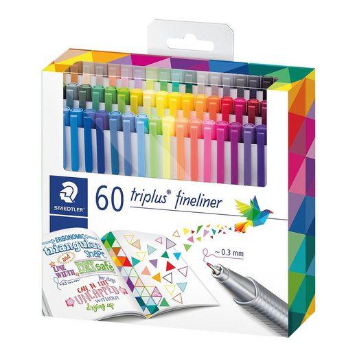 STAEDTLER Fineliner triplus, 60 Farben