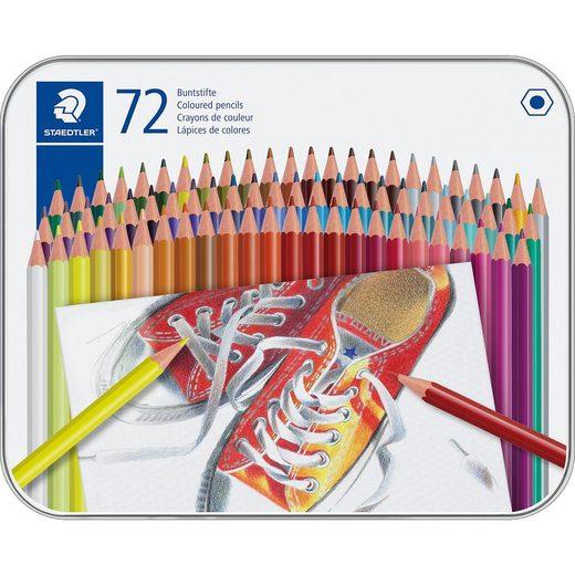 STAEDTLER Buntstifte, 72 Farben in Metalletui