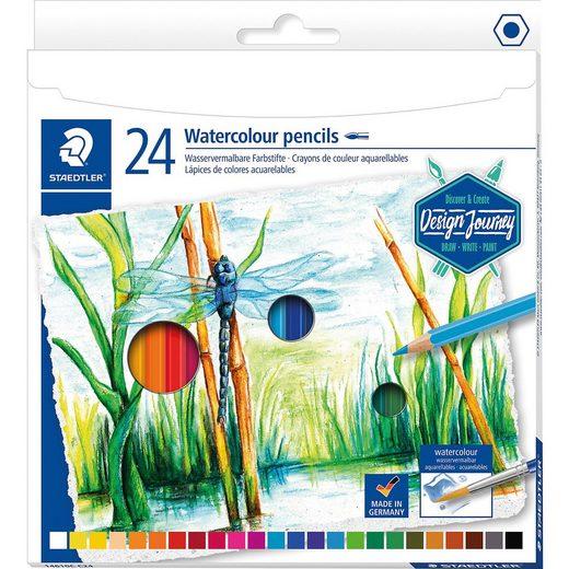 STAEDTLER Wasservermalbare Buntstifte, 24 Farben