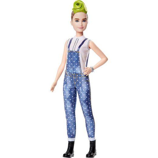Mattel® Barbie Fashionistas Puppe im Latzhosenoutfit mit grüner Haar