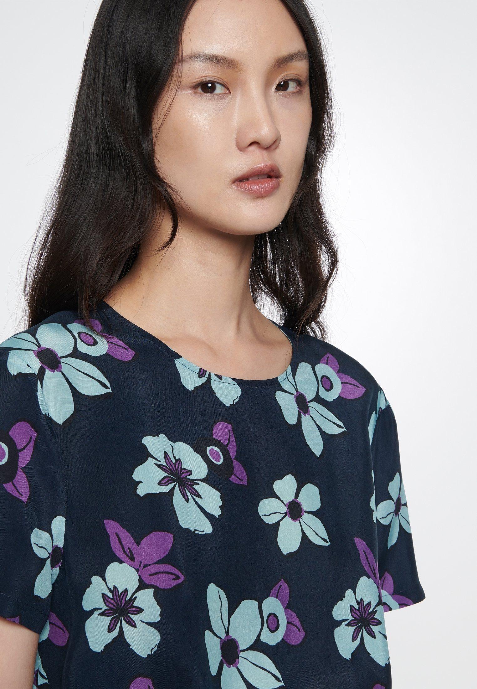 Rose« Kurzarm Kaufen Rundhals Seidensticker »schwarze Floraler Online Sommerkleid Print ARL435j