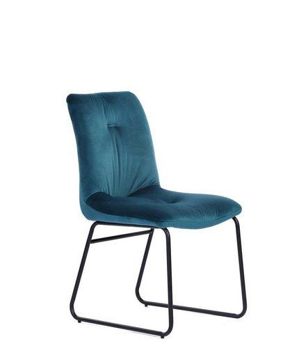 KAWOLA Stuhl Velvet Stoff verschiedene Farben »ZITA«