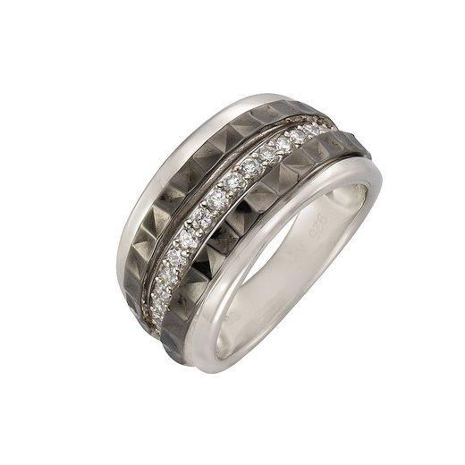 CELESTA Ring »925/- Sterling Silber bicolor Zirkonia«