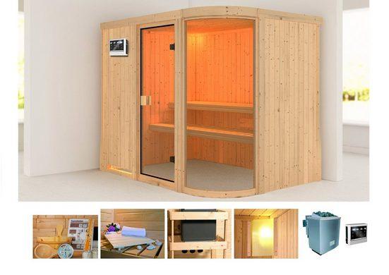 KARIBU Sauna »Parima 4«, 231x170x198 cm, 9 kW Bio-Ofen mit ext. Steuerung