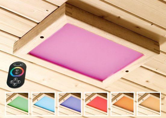 KARIBU Farblichtanwendung »Premium LED«, B/T/H: 24/32/3,8 cm