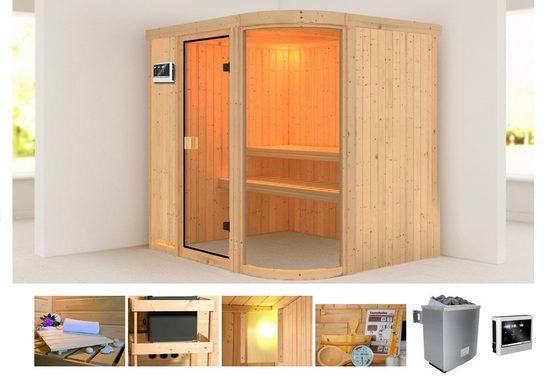 KARIBU Sauna »Parima 2«, 196x151x198 cm, 9 kW Ofen mit ext. Steuerung