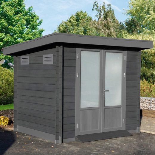 WOLFF FINNHAUS Gartenhaus »Trend B«, BxT: 280x240 cm