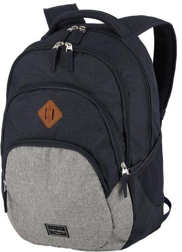 travelite Cityrucksack »Basics, marine/grau«