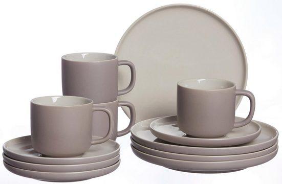 Ritzenhoff & Breker Kaffeeservice »Jasper« (12-tlg), Steinzeug, Scandic Style