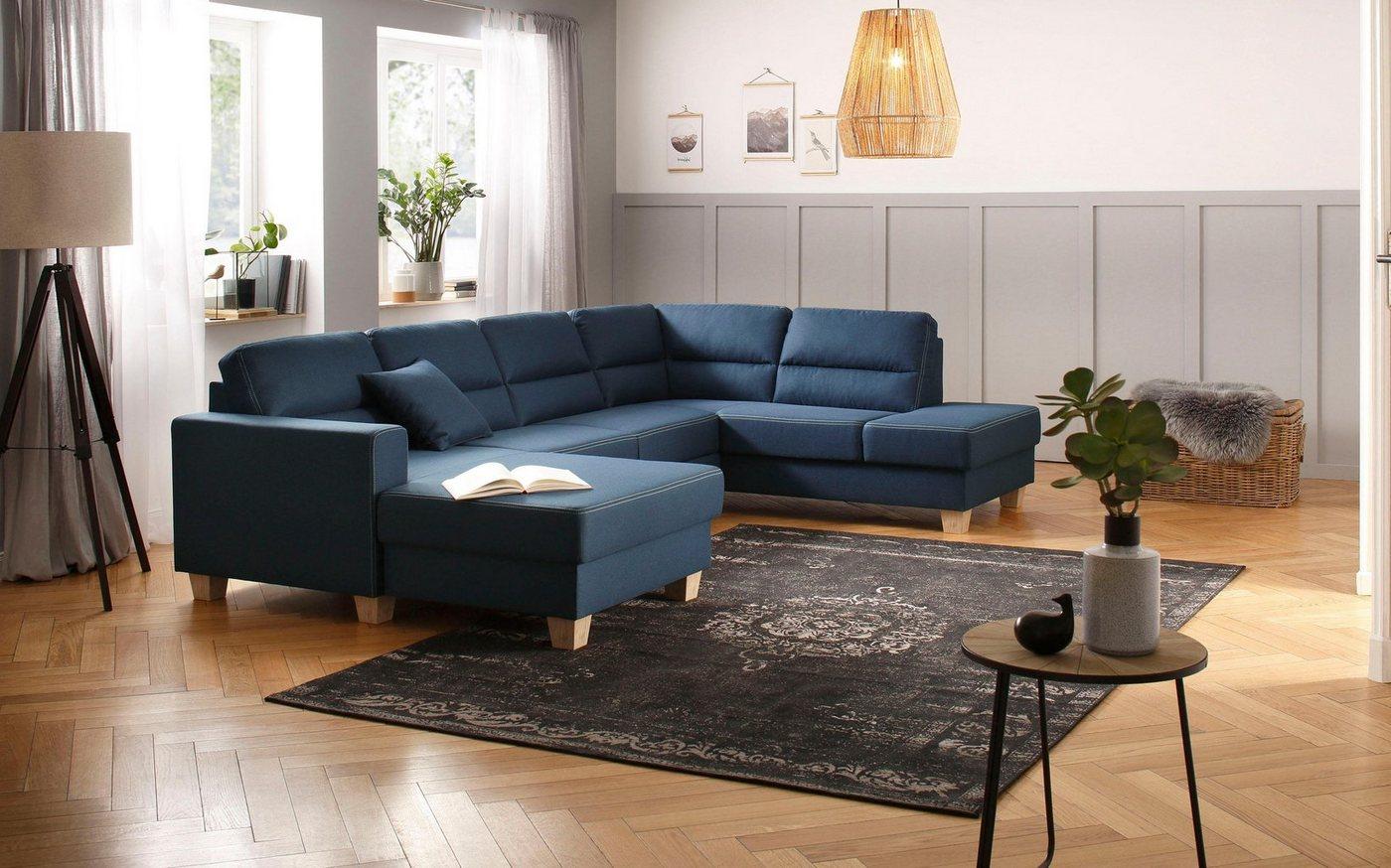 Sofas - Home affaire Wohnlandschaft »Navan«, wahlweise mit Bettfunktion  - Onlineshop OTTO