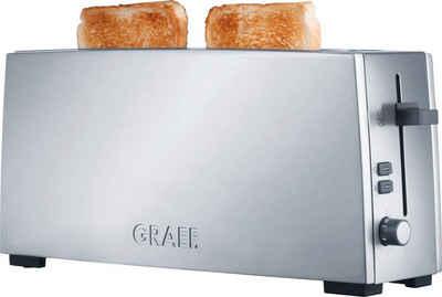 Graef Toaster TO 90, 1 langer Schlitz, 880 W, Langschlitztoaster, silber
