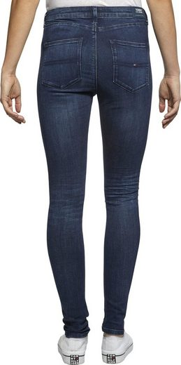TOMMY JEANS Skinny-fit-Jeans »HIGH RS SPR SKY TJ 2008 7/8 RHNB« mit Scratches & Tommy Jeans Logo