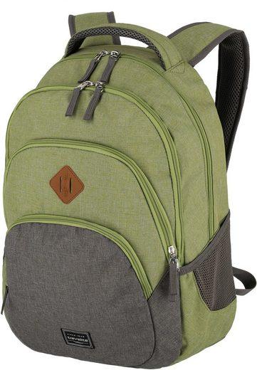 travelite Cityrucksack »Basics, grün/grau«