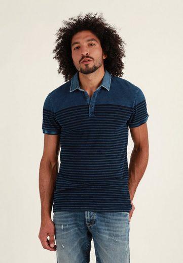 Mavi Poloshirt »INDIGO POLO TEE« gestreift