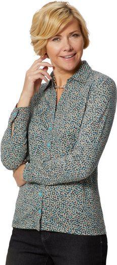 Classic Базовые модели  Jersey-Bluse mit Hemdkragen