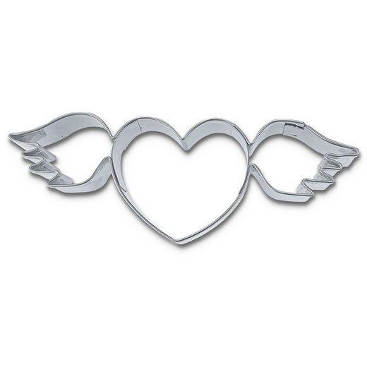 STÄDTER Ausstechform Fliegendes Herz »Hochzeit«