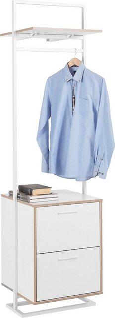 Kleiderständer und Garderobenständer - andas Garderobenständer »Isere«, mit 2 Schubladen und 1 oberen Ablageboden  - Onlineshop OTTO