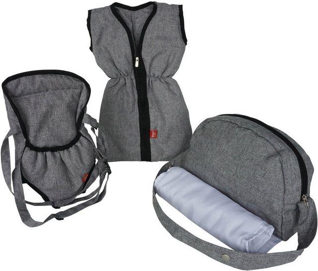 Wickelmöbel und Zubehör - Knorrtoys® Puppen Schlafsack »Puppenzubehörset stone«, mit Puppenbauchtrage und Wickeltasche  - Onlineshop OTTO