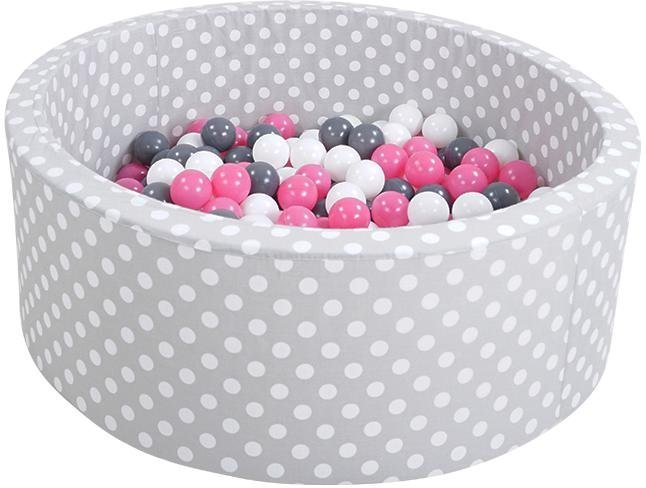 knorrtoys b llebad soft grey white dots mit 300. Black Bedroom Furniture Sets. Home Design Ideas