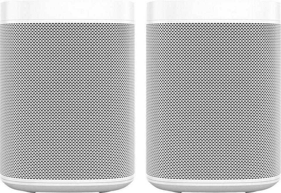 2 x Sonos One Stereo Smart Speaker (mit Sprachsteuerung, Set)