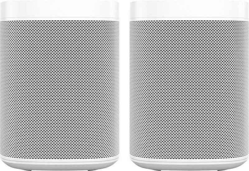 Sonos One Gen2 Stereo Smart Speaker (mit integrierter Sprachsteuerung, 2-er Set)