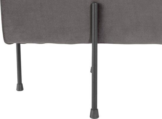 Leonique Hocker »Marne«  aus schönem weichen Velvetbezug  mit schwarzen Metallgestell