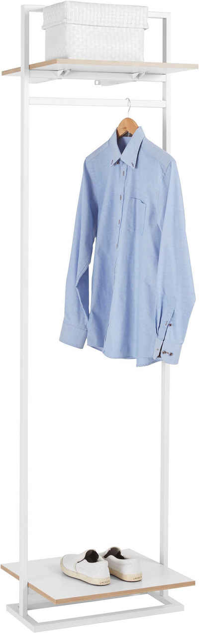 andas Garderobenständer »Isere«, mit 1 Kleiderstange und 1 oberen Ablageboden