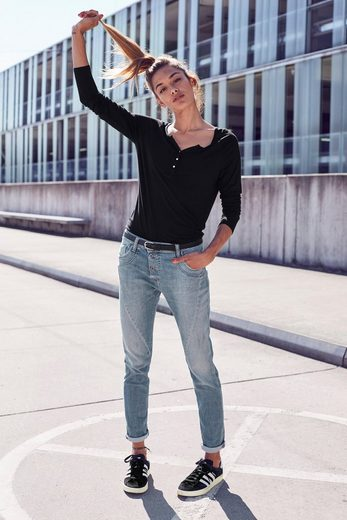 Please Jeans 5-Pocket-Jeans »P78A« lässige Boyfriend Jeans in leichter Crinkle Optik & krempelbaren Bein