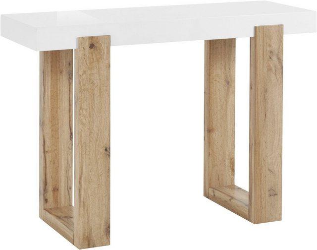 Wohnzimmertische - INOSIGN Konsolentisch »Solid«, mit schönem Beingestell und einer weißen Tischplatte, Breite 110 cm  - Onlineshop OTTO