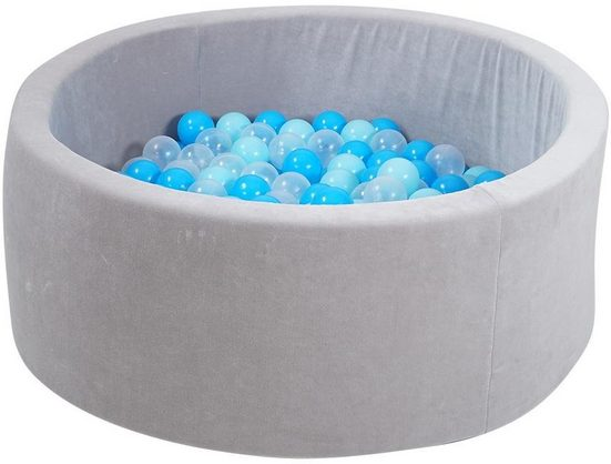 Knorrtoys® Bällebad »soft, Grey«, mit 300 Bällen soft blue/blue/transparent