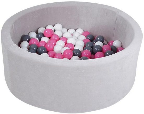 Knorrtoys® Bällebad »soft, Grey«, mit 300 Bällen creme/grey/rose