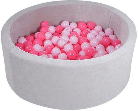 Knorrtoys® Bällebad »Soft, Grey«, mit 300 Bällen soft pink; Made in Europe