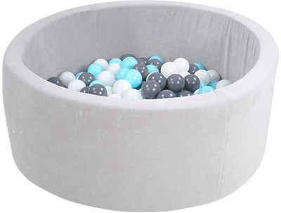 Knorrtoys® Bällebad »Soft, Grey«, mit 300 Bällen creme/grey/lightblue; Made in Europe