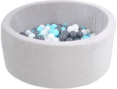 knorrtoys b llebad soft grey mit 300 b llen creme. Black Bedroom Furniture Sets. Home Design Ideas