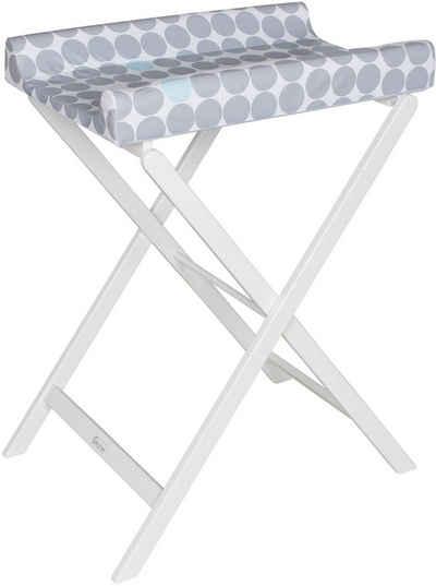 Geuther Wickeltisch »Trixi weiß, graue Punkte«, mit Wickelauflage - platzsparend zusammenklappbar; Made in Germany